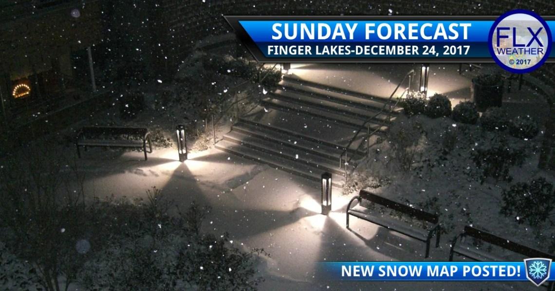 finger lakes weather forecast christmas eve sunday december 24 2017 white christmas snow map