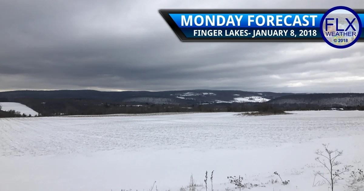 finger lakes weather forecast light precipitation rain snow sleet freezing rain monday janaury 8 2018