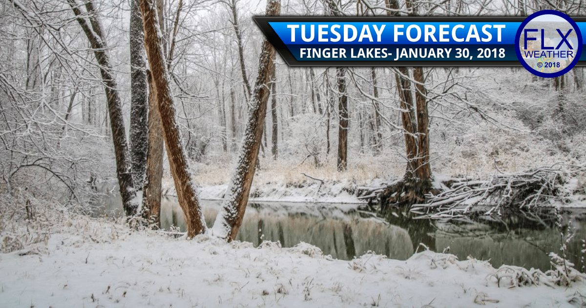 finger lakes weather forecast tuesday january 30 2018 snow accumulation lake effect