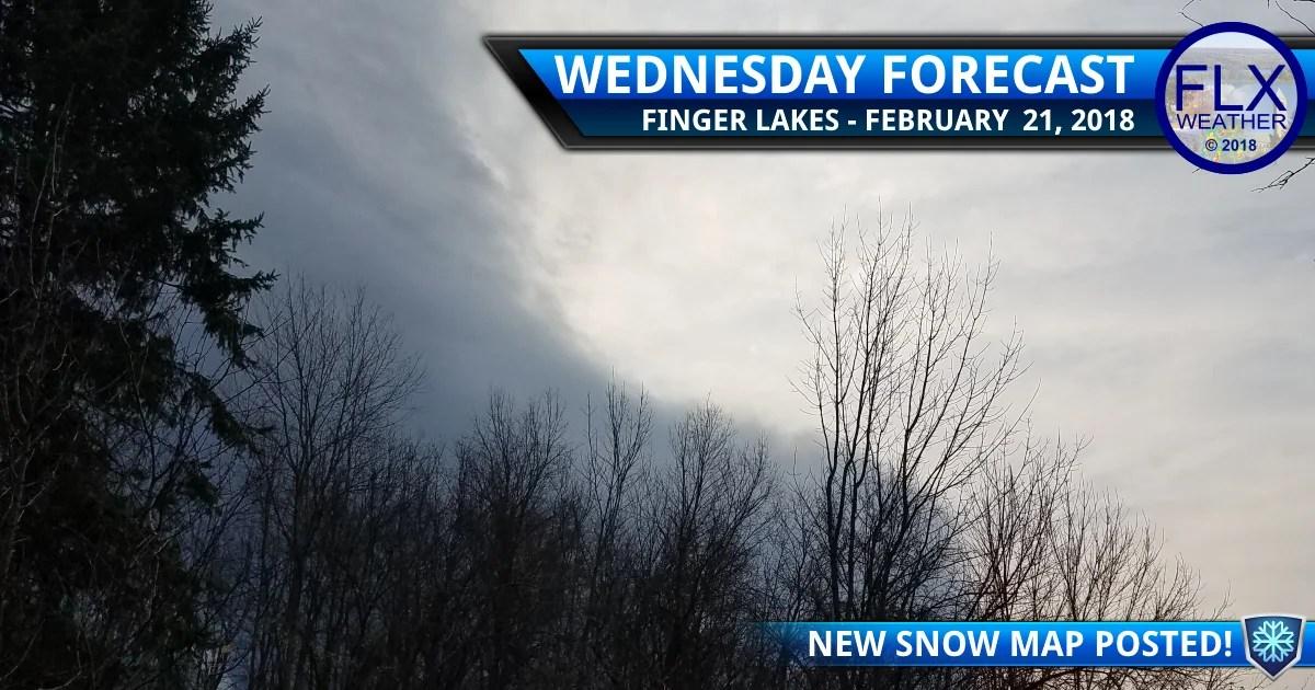 finger lakes weather forecast wednesday february 21 2018 thursday snow map