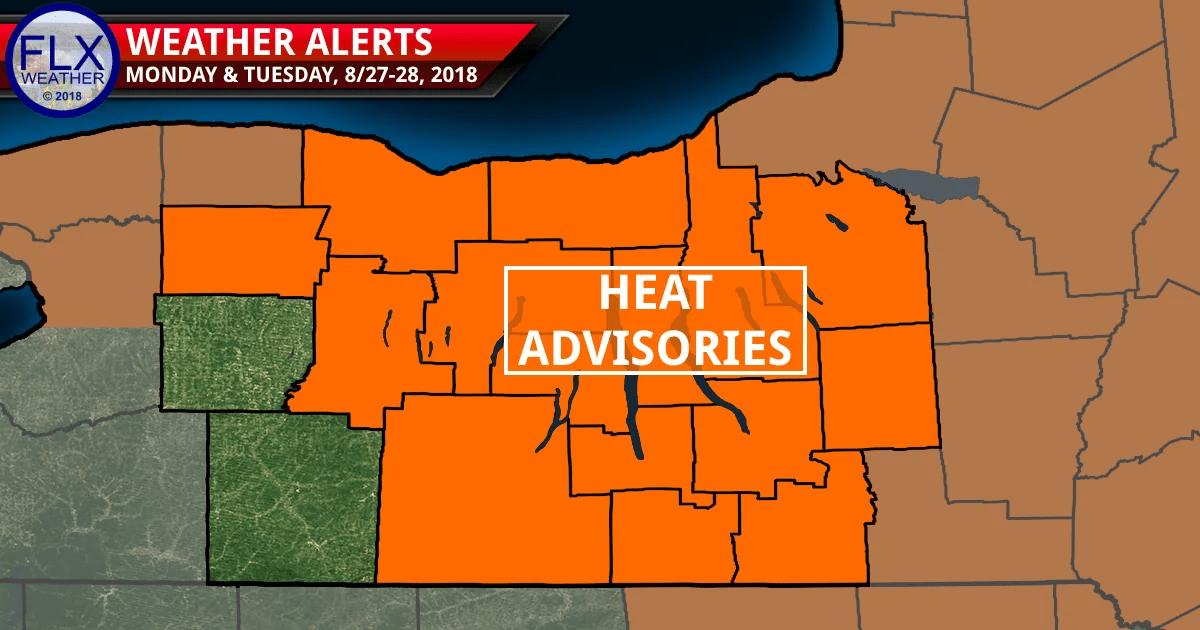 finger lakes weather forecast monday august 27 0218 heat advisory humid