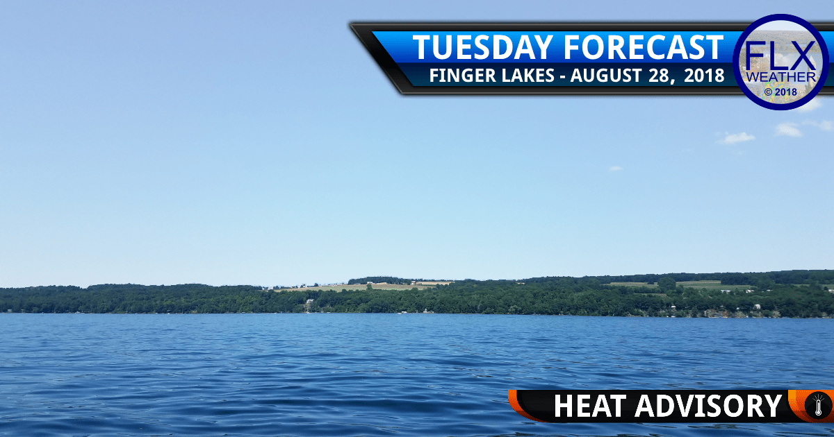 finger lakes weather forecast tuesday august 28 2018 heat advisory high heat humidity heat index