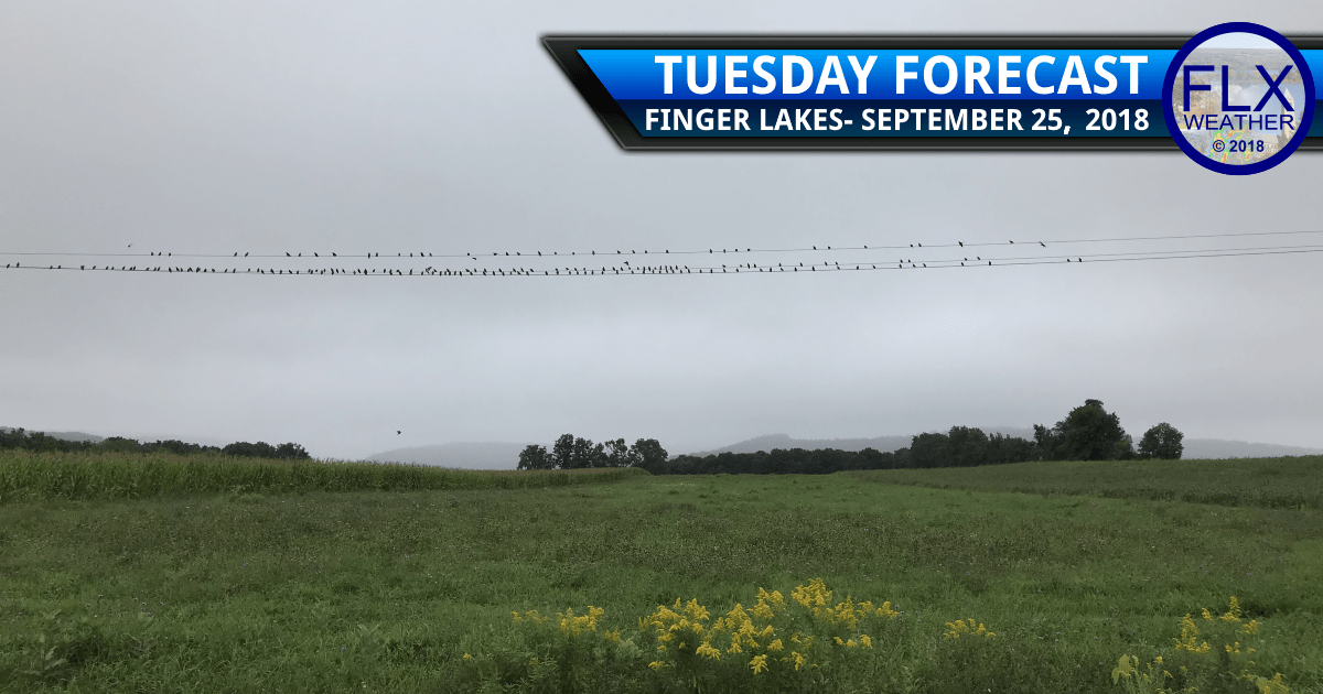 finger lakes weather forecast wednesday september 25 2018 morning rain afternoon showers low severe storm risk wednesday