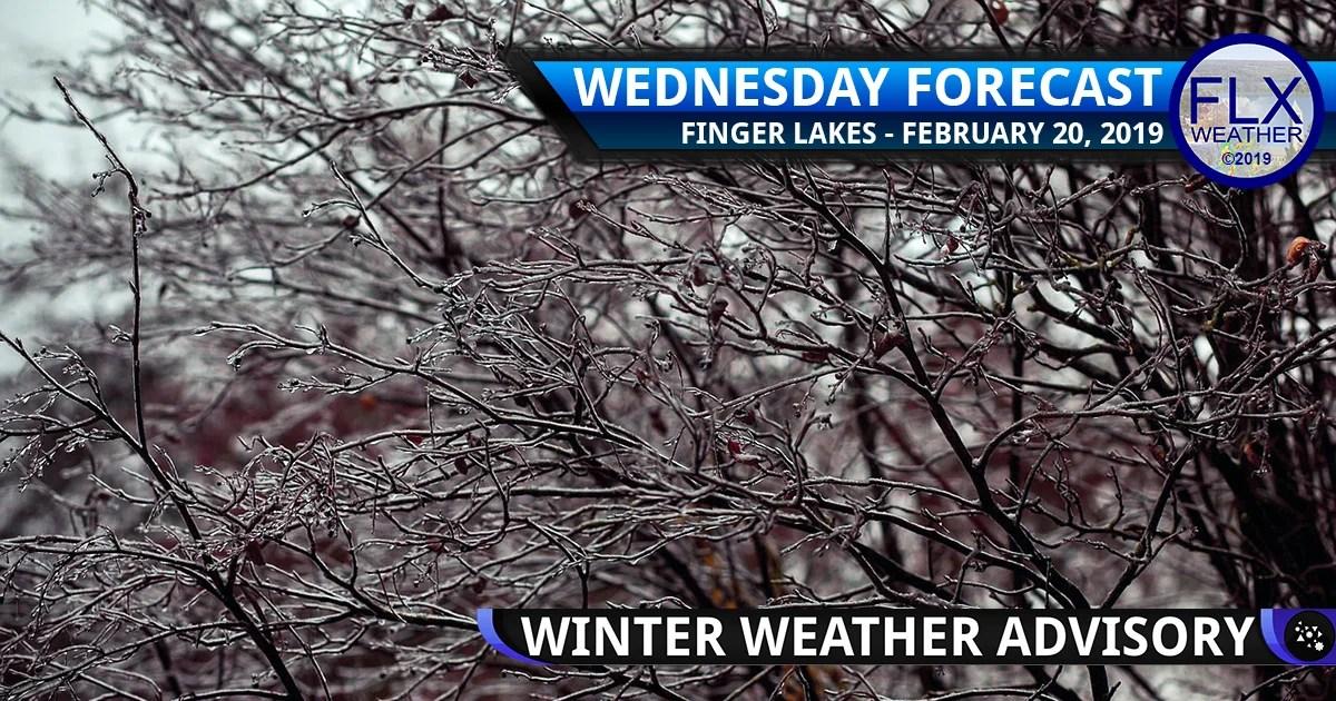 finger lakes weather forecast wednesday february 20 2019 wintry mix ice sleet freezing rain drizzle fog wind weekend weather