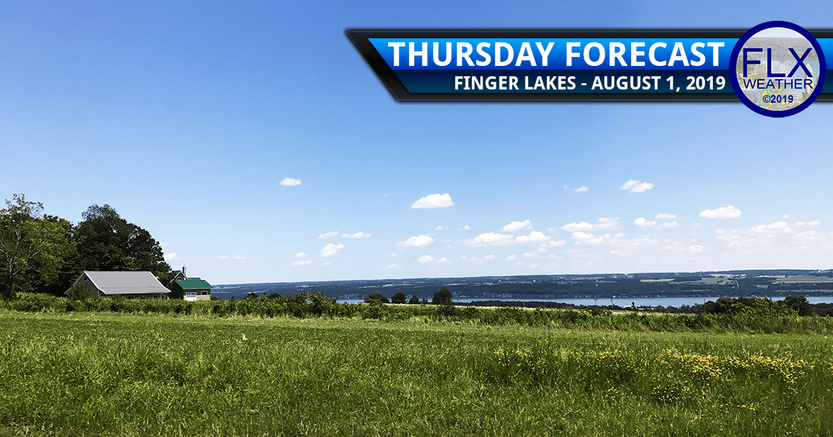 finger lakes weather forecast thursday august 1 2019 sunny warm weekend weather