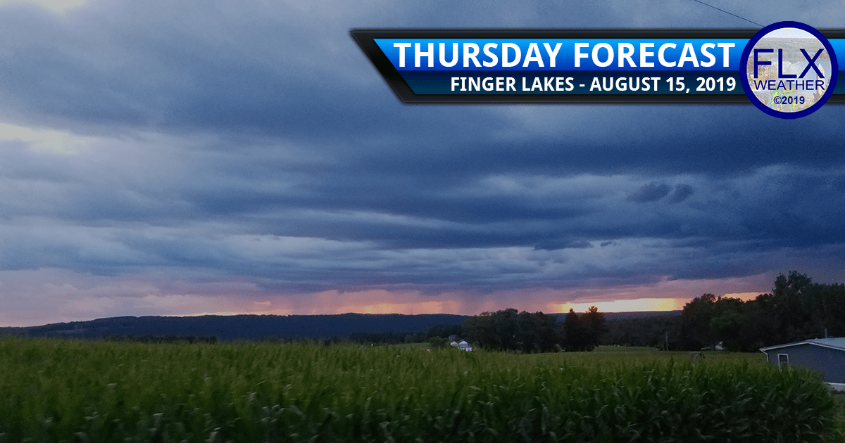 finger lakes weather forecast thursday august 15 2019 rain thunderstorms temperatures