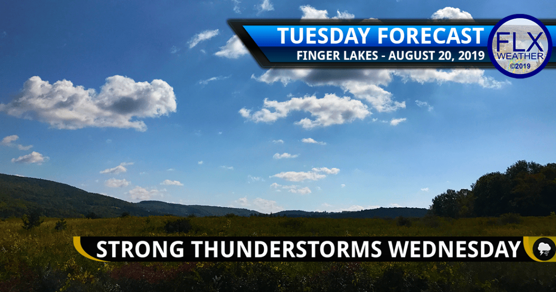 finger lakes weather forecast tuesday august 20 2019 sunny warm severe thunderstorms wednesday august 21 2019