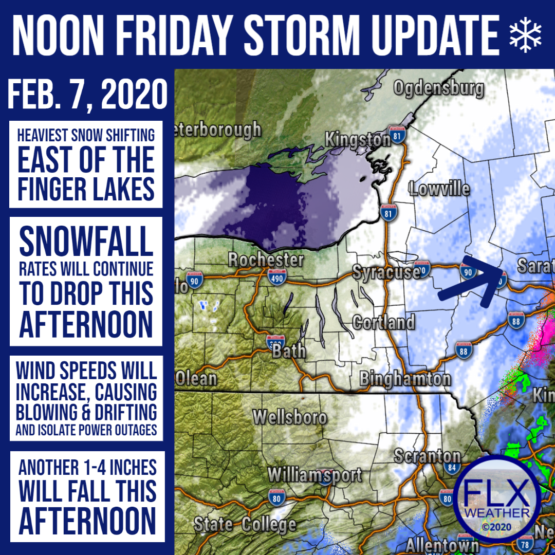 finger lakes weather update noon friday february 7 2020