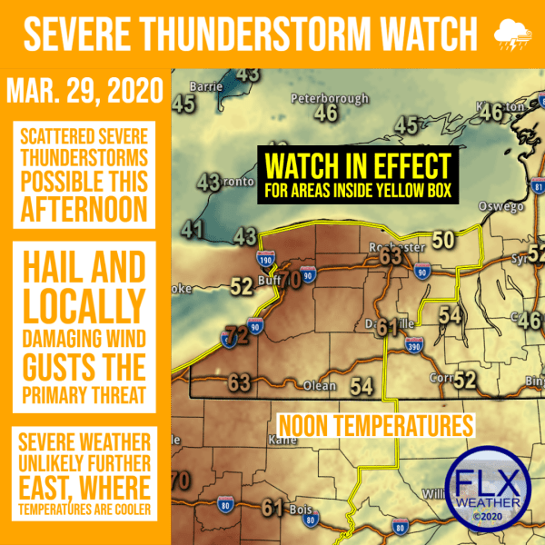 finger lakes weather forecast severe thunderstorm watch sunday march 29 2020