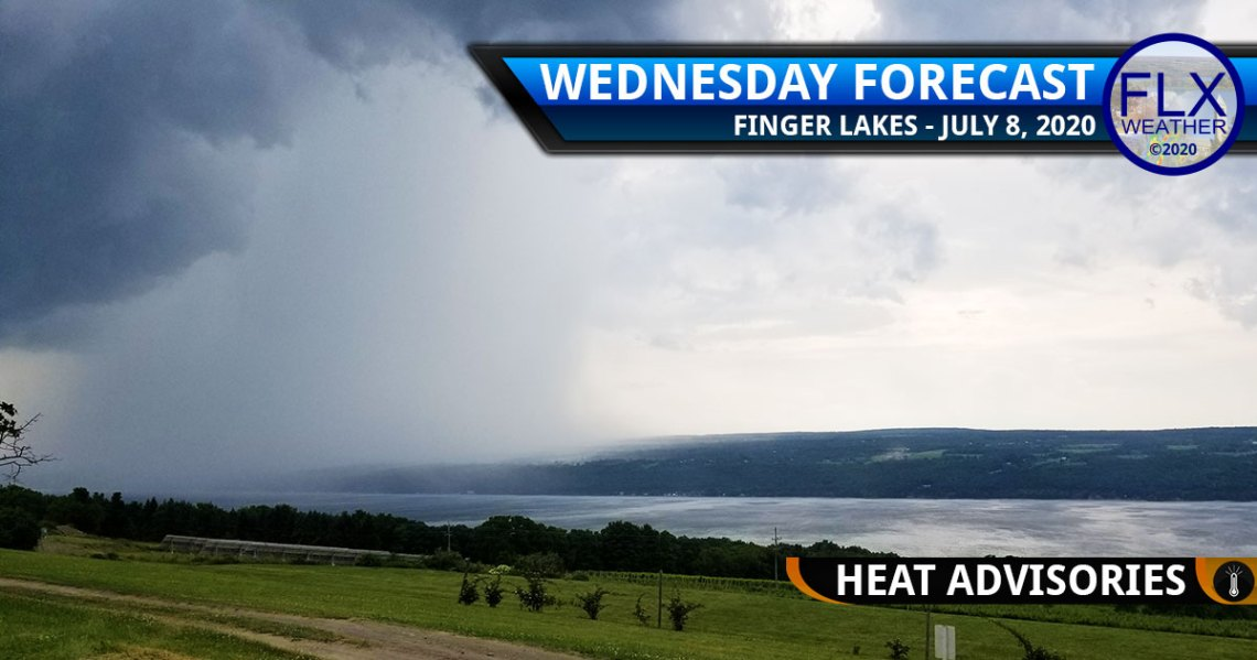 finger lakes weather forecast wednesday july 8 2020 heat advisories thunderstorms