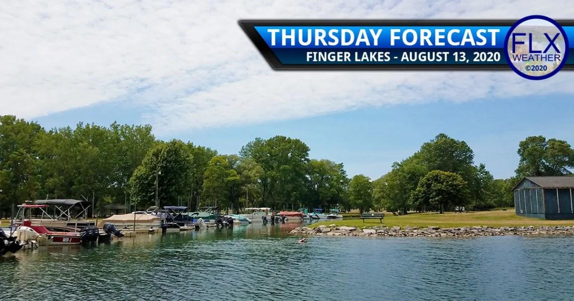 finger lakes weather forecast thursday august 13 2020 sun clouds mild