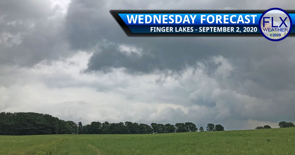 finger lakes weather forecast wednesday september 2 2020 cold front showers thunderstorms breezy