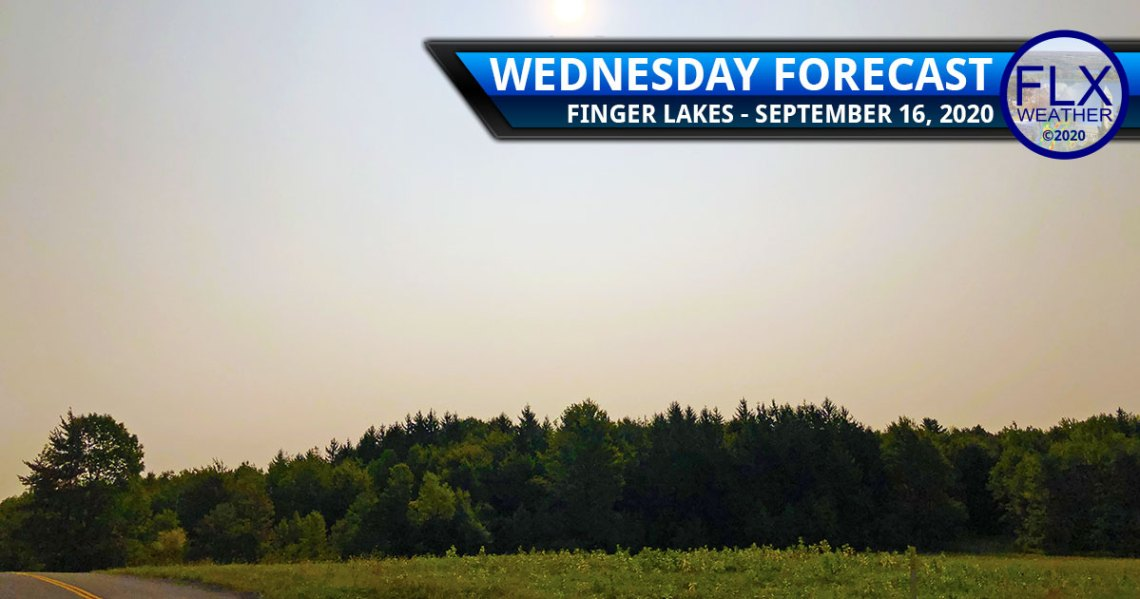 finger lakes weather forecast wednesday september 16 2020 sun smoke cold front