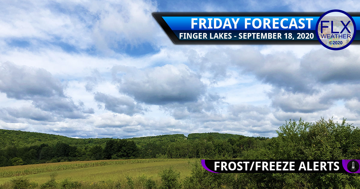 finger lakes weather forecast friday september 18 2020 cool sunny frost advisory freeze warning