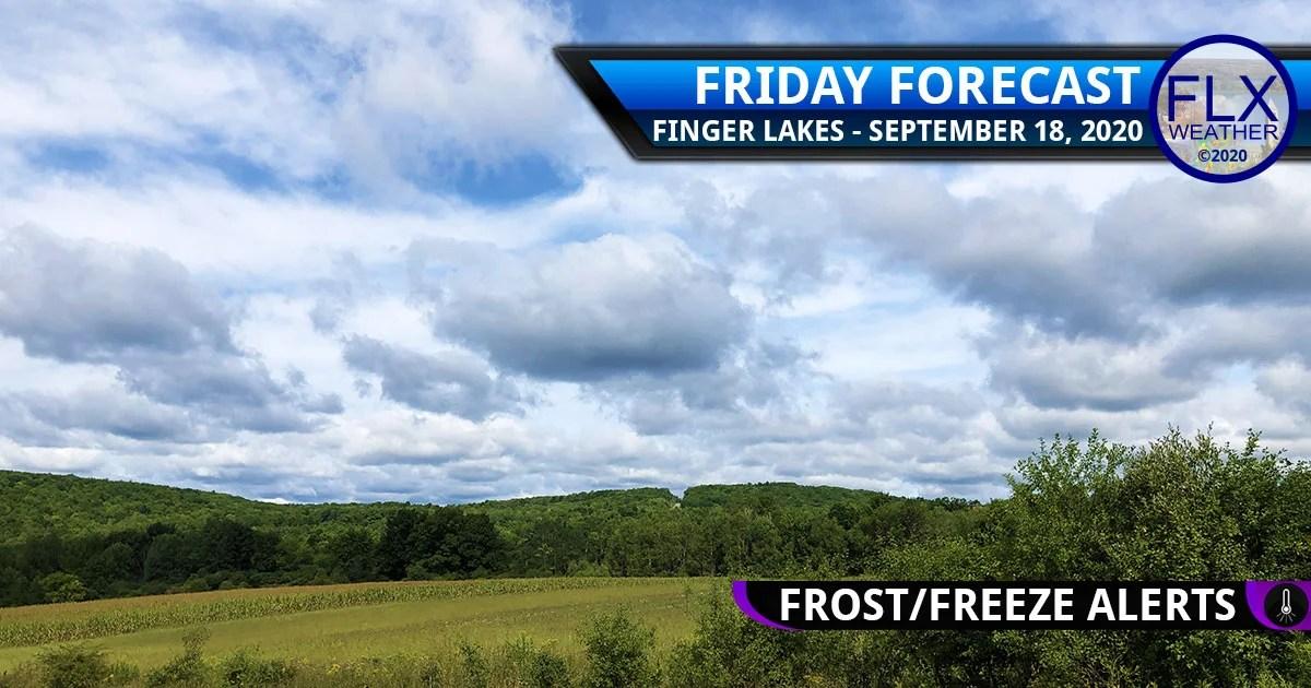 finger lakes weather forecast friday september 18 2020 cool sunny frost advisory freeze warning