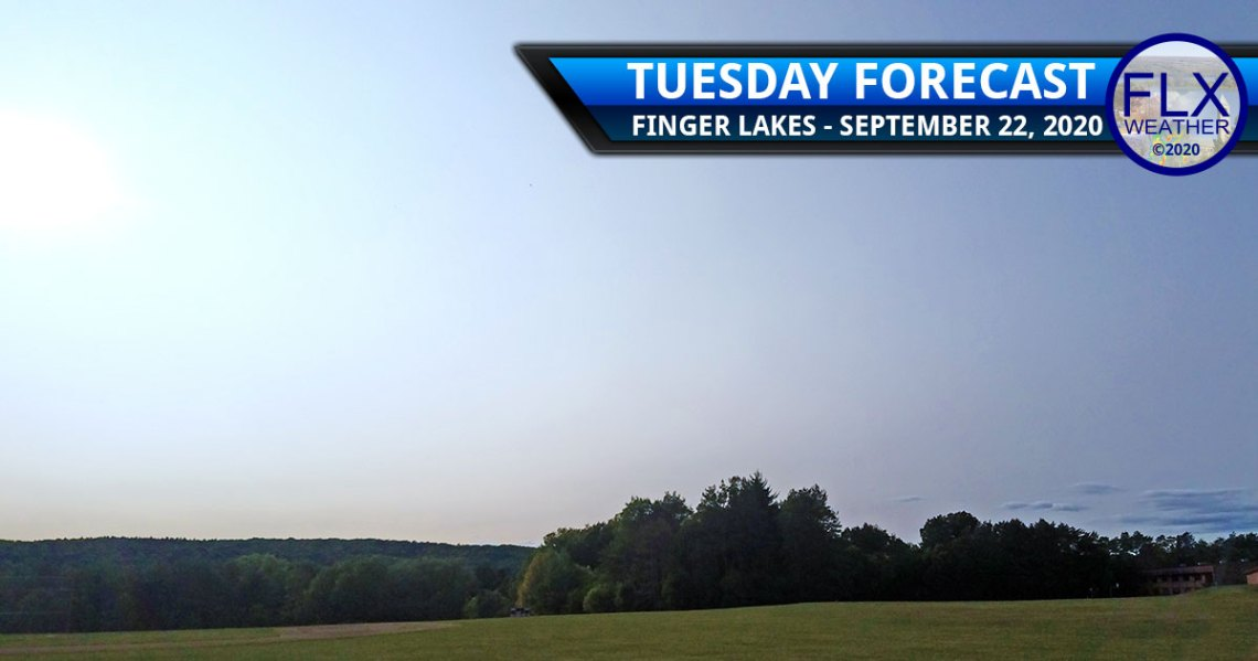 finger lakes weather forecast tuesday september 22 2020 sun smoke warming trend