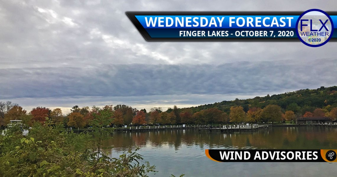 finger lakes weather forecast wednesday october 7 2020 cold front wind advisories rain thunder