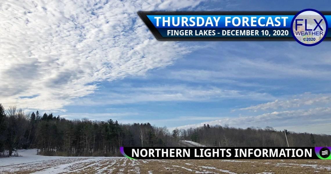 finger lakes weather forecast clouds sun milder northern lights