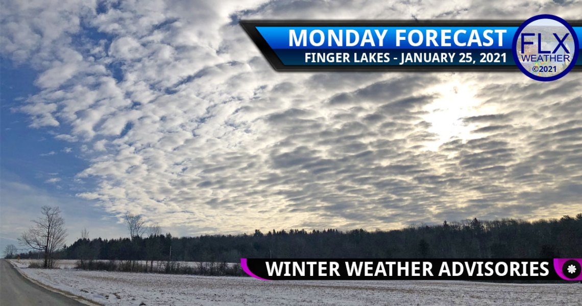 finger lakes weather forecast monday january 25 2021 clouds snow tuesday winter weather advisory
