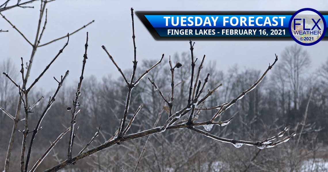 finger lakes weather forecast snow ice end warm lake effect next storm thursday