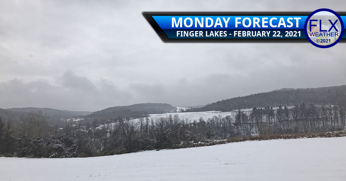 finger lakes weather forecast monday february 22 2021 snow snowy warm-up