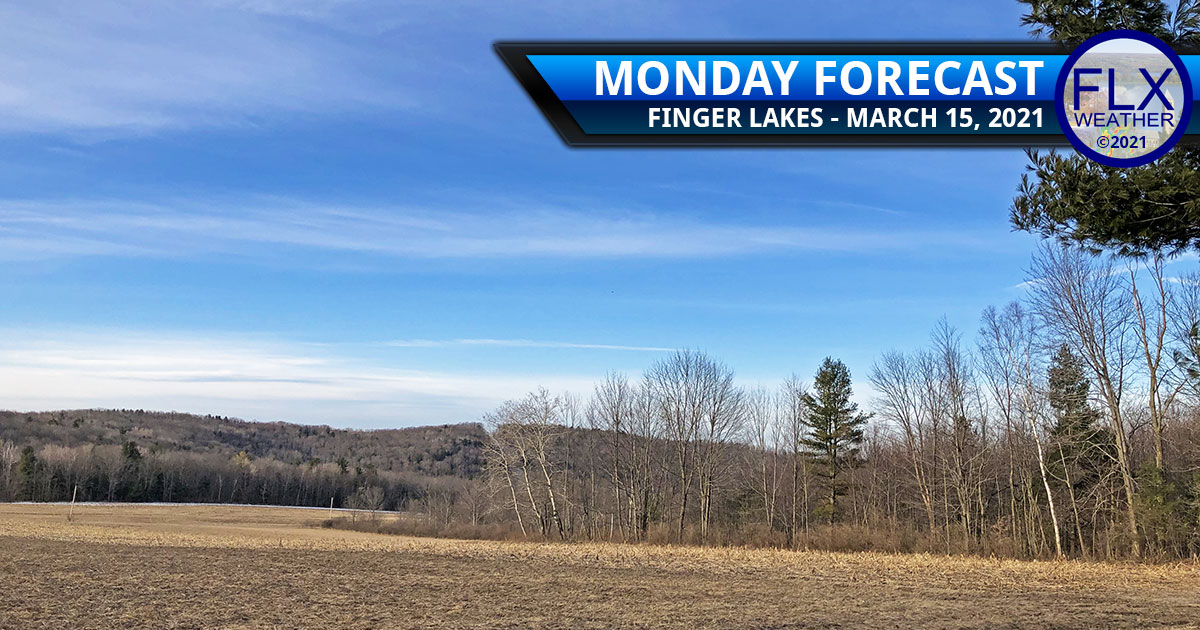 finger lakes weather forecast monday march 15 2021 sunny high pressure chilly