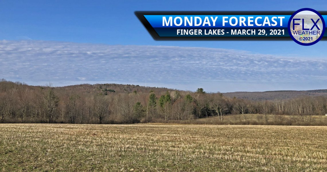 finger lakes weather forecast monday march 29 2021 clouds sun warm up cold front april fools snow