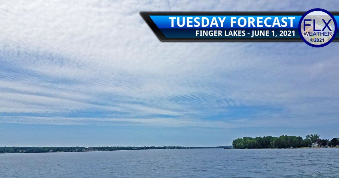 finger lakes weather forecast tuesday june 1 2021 clouds sun showers thunderstorms