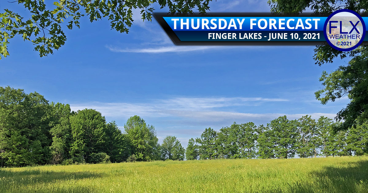 finger lakes weather forecast thursday june 10 2021 dry air sunshine mild temperatures