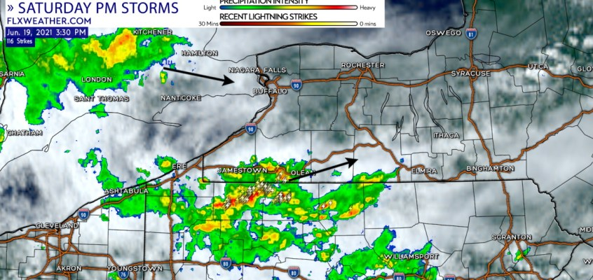 finger lakes weather forecast update saturday afternoon