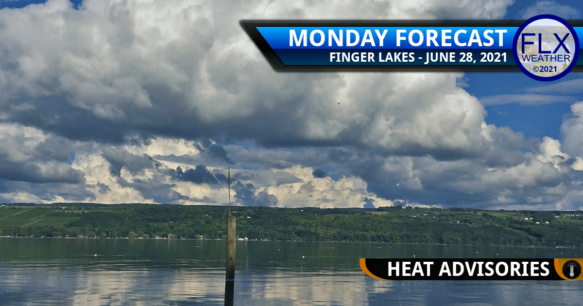 finger lakes weather forecast monday june 28 2021 hot humid thunderstorms