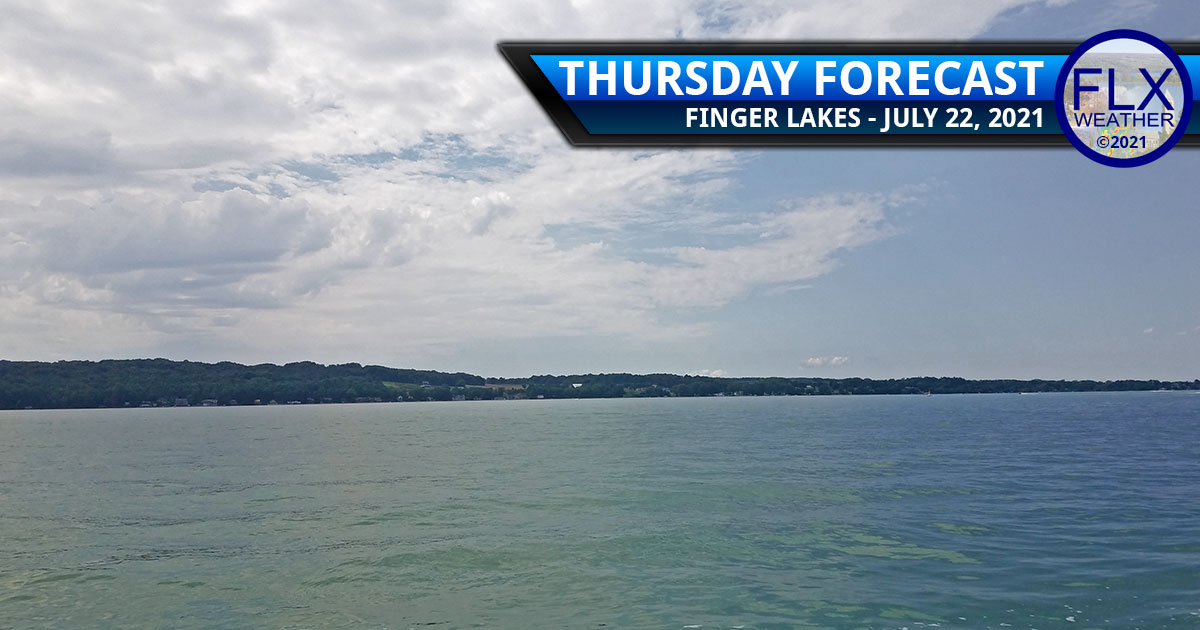 finger lakes weather forecast thursday july 22 2021 sun clouds wildfire smoke