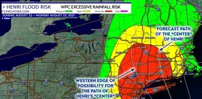 finger lakes weather forecast hurricane henri flood risk