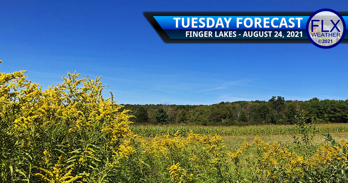 finger lakes weather forecast tuesday august 24 2021 sunny hot humid