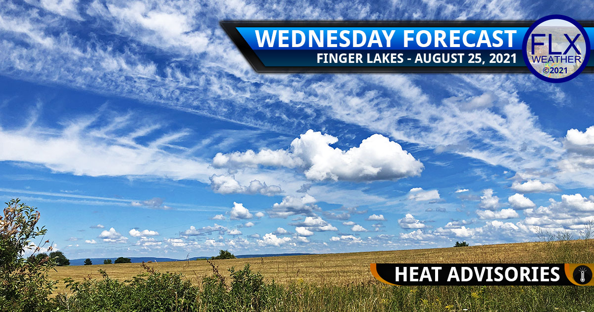 finger lakes weather forecast wednesday august 25 2021 heat advisories showers humid hot