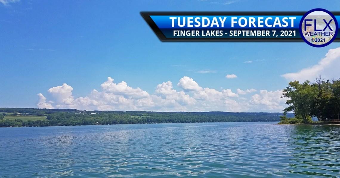 finger lakes weather forecast tuesday september 7 2021 high pressure sunny mild wednesday thunderstorms
