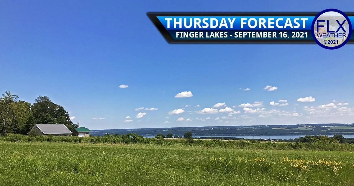 finger lakes weather forecast thursday september 16 2021 sunny less humid high pressure