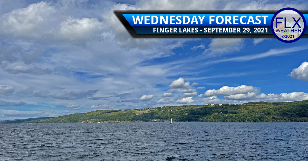 finger lakes weather forecast wednesday september 29 2021 sun clouds cool air lake effect showers