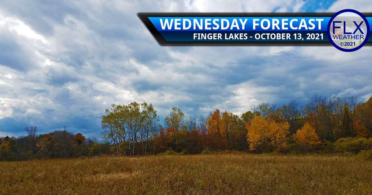 finger lakes weather forecast wednesday october 13 2021 sun clouds showers cold front