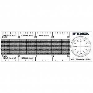 MR-1 Flight Diversion Ruler (Plotter). PPL(A) and PPL(H)
