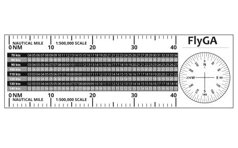 FlyGA MR-1 Flight Diversion Ruler PPL Navigation