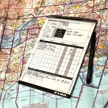 VFR Flight Log Pad Plog (Flight planning, notes, A5 pad, booklet)