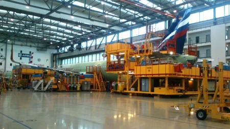 La tercera de las líneas de montaje de Airbus en Finkenwerder y que se ha copiado en China y Estados Unidos.