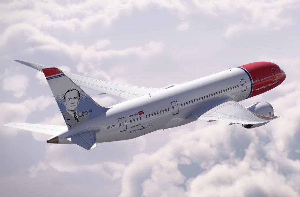 Resultado de imagen para Norwegian Boeing 787-8 Joan Miró