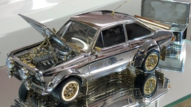 Photo of TINY CLASSIC FORD ESCORT MADE OF GOLD, DIAMONDS AND SILVER EXPECTED TO FETCH A FORTUNE AT AUCTION