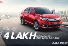 Photo of Honda Amaze crosses 4 lakh cumulative sales milestone in India
