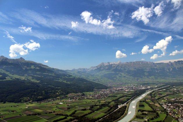 Rheintal mit Säntis im Hintergrund