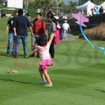 Girl flying kite - Modern kite making workshop