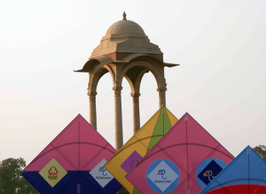 Monument in delhi - Kite Flying Festival in Delhi