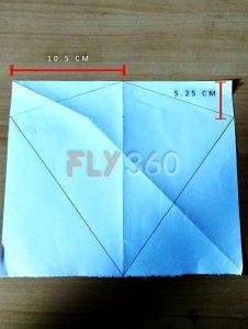 Step 3 draw Rhombus shape of kite portion DIY kite FLY360